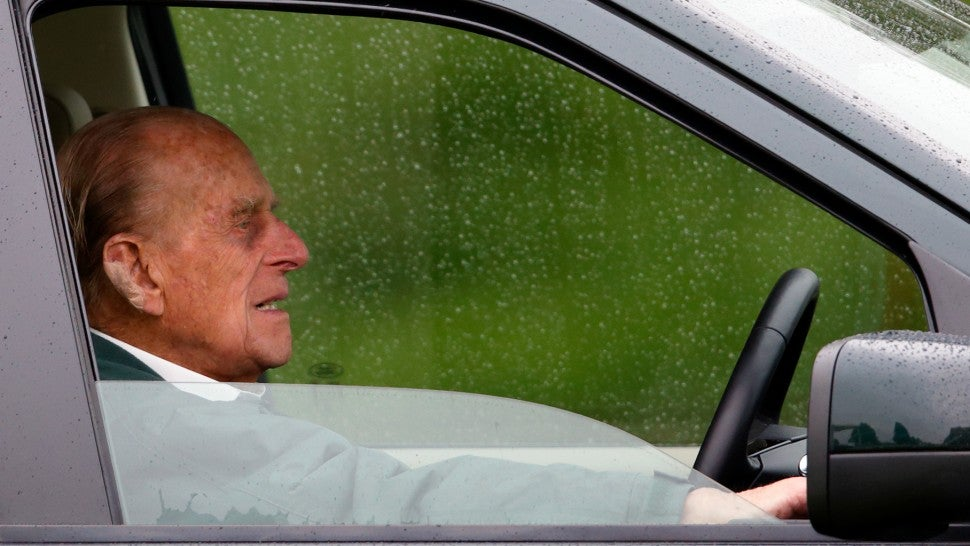UK's Prince Philip, 97, back driving - without seatbelt