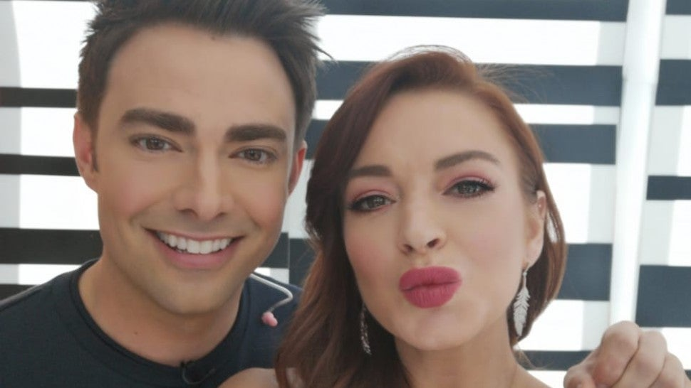 Lindsay Lohan reunites with 'Mean Girls' co-star Jonathan Bennett