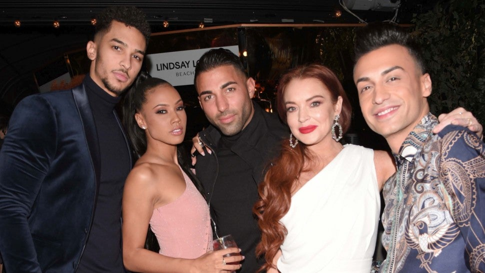 Lindsay Lohan beach club premiere party NYC