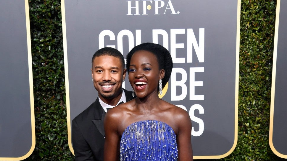 Michael B. Jordan and Lupita Nyong'o attend the 76th Annual Golden Globe Awards at The Beverly Hilton Hotel on January 6, 2019 in Beverly Hills, California.