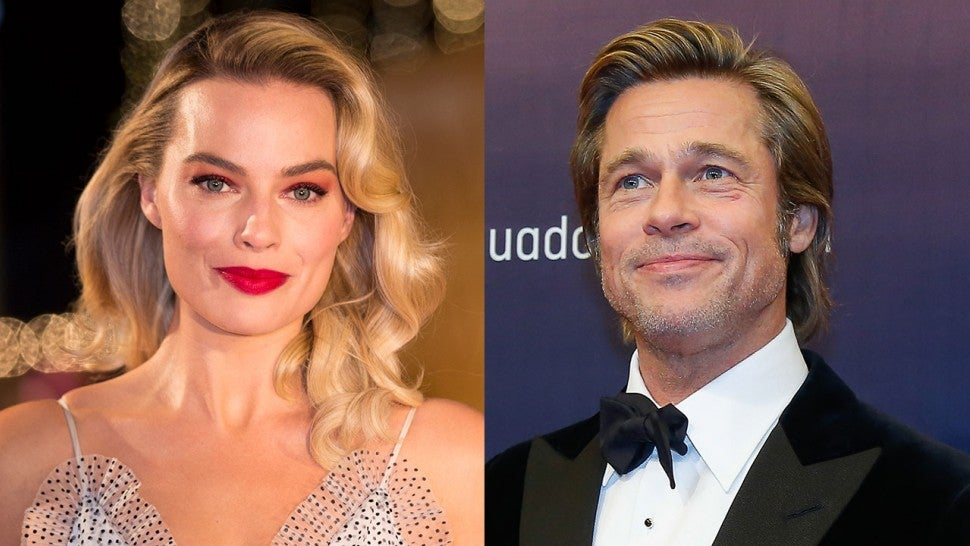 Margot Robbie and Brad Pitt