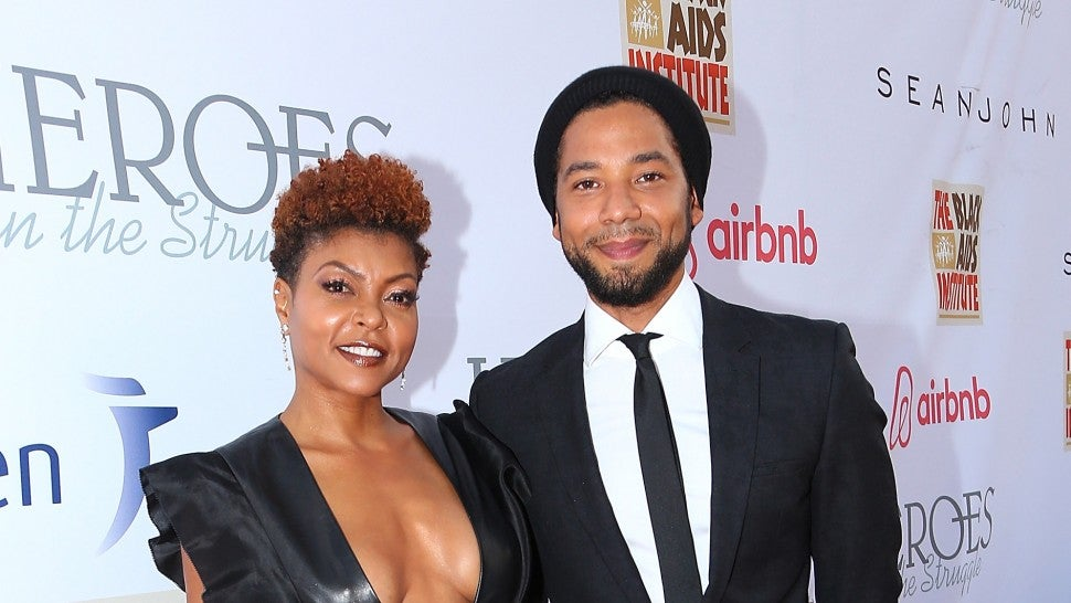 Taraji P. Henson and Jussie Smollett arrive at the 16th Annual Heroes In The Struggle gala reception and awards presentation at 20th Century Fox on September 16, 2017 in Los Angeles.