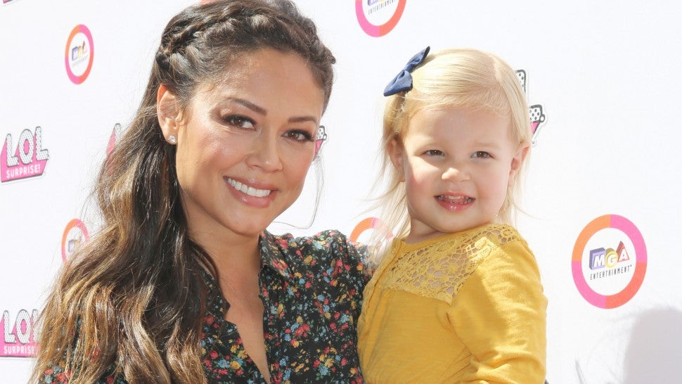 Vanessa Lachey and daughter Brooklyn Elisabeth Lachey attend the launch of L.O.L. Surprise! Big Surprise and world's first unboxing video booth on September 29, 2017 in Los Angeles, California.