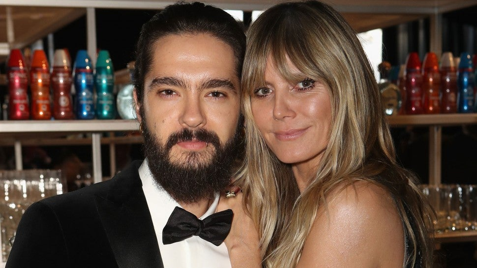 Tom Kaulitz and Heidi Klum attend the 27th annual Elton John AIDS Foundation Academy Awards Viewing Party
