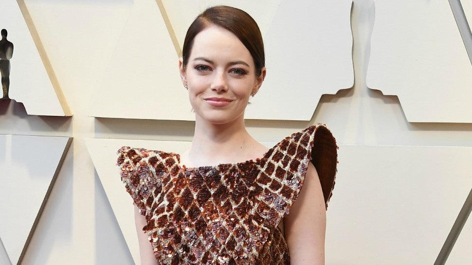 Emma Stone Turns Heads in Dramatic Copper Dress at 2019