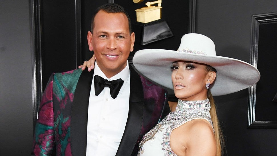 Alex Rodriguez and Jennifer Lopez at grammys 2019