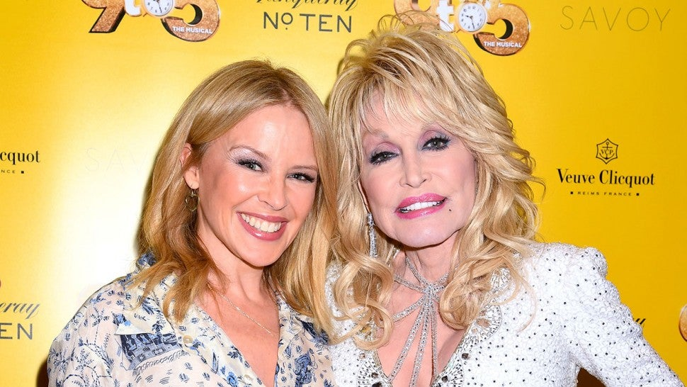 Kylie Minogue and Dolly Parton at 9 to 5 musical in london