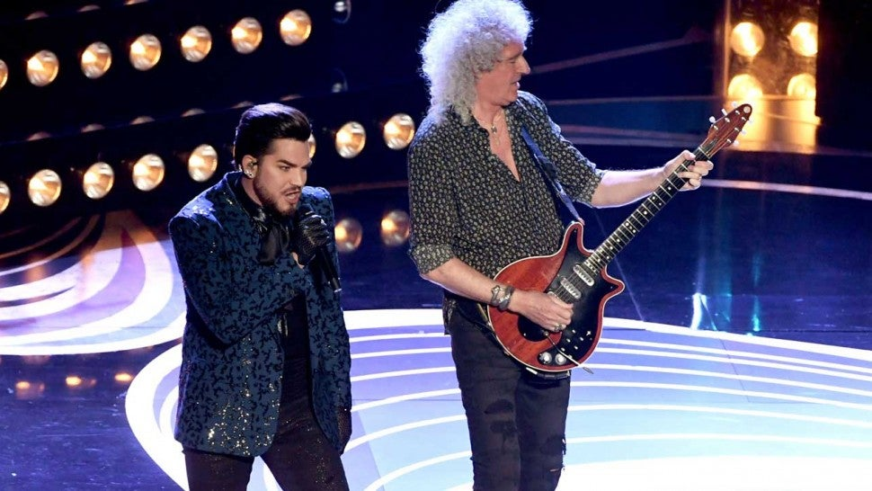 Queen And Adam Lambert Kick Off 2019 Oscars With Epic Performance Of Iconic Hits Entertainment Tonight