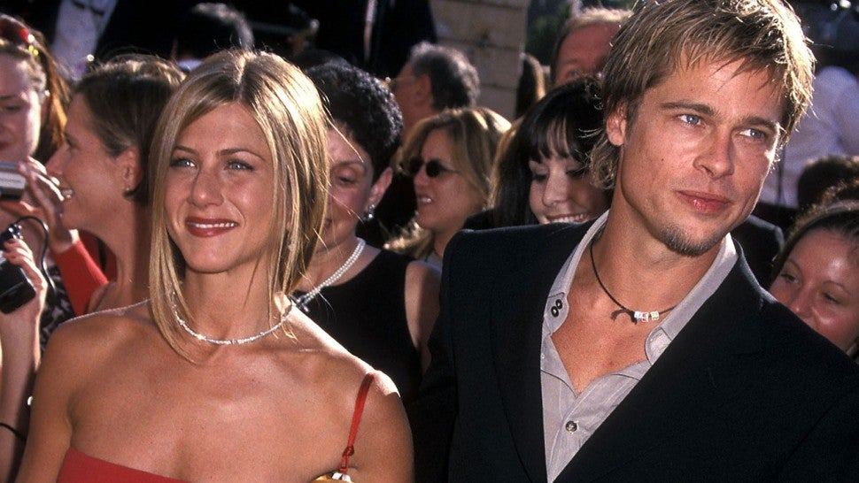 7c5cb465e Brad Pitt Shows Up to Jennifer Aniston s 50th Birthday Party ...