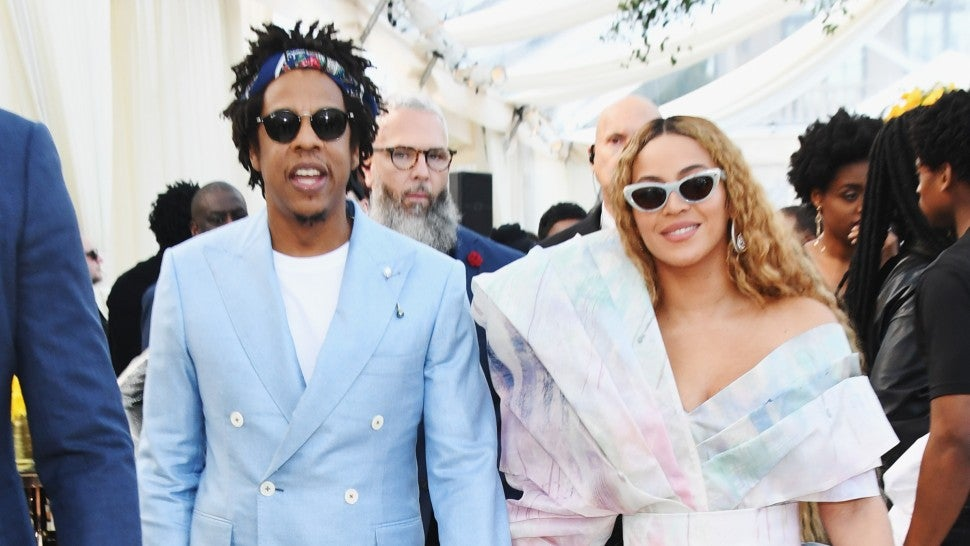 85926cbc441 Beyoncé and JAY-Z Color Coordinate in Stylish Pastel Looks for Roc Nation  Brunch