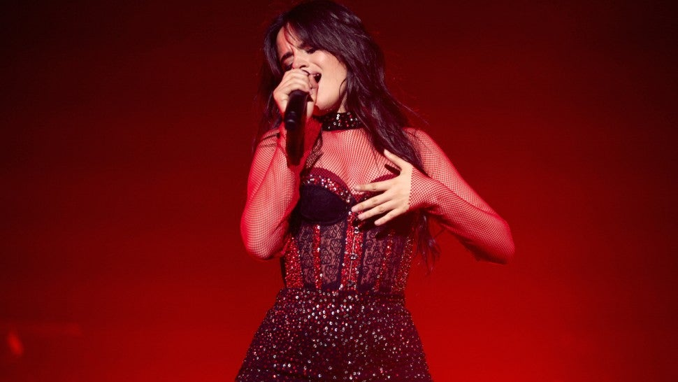 Camila Cabello performing at Orpheum Theatre in LA