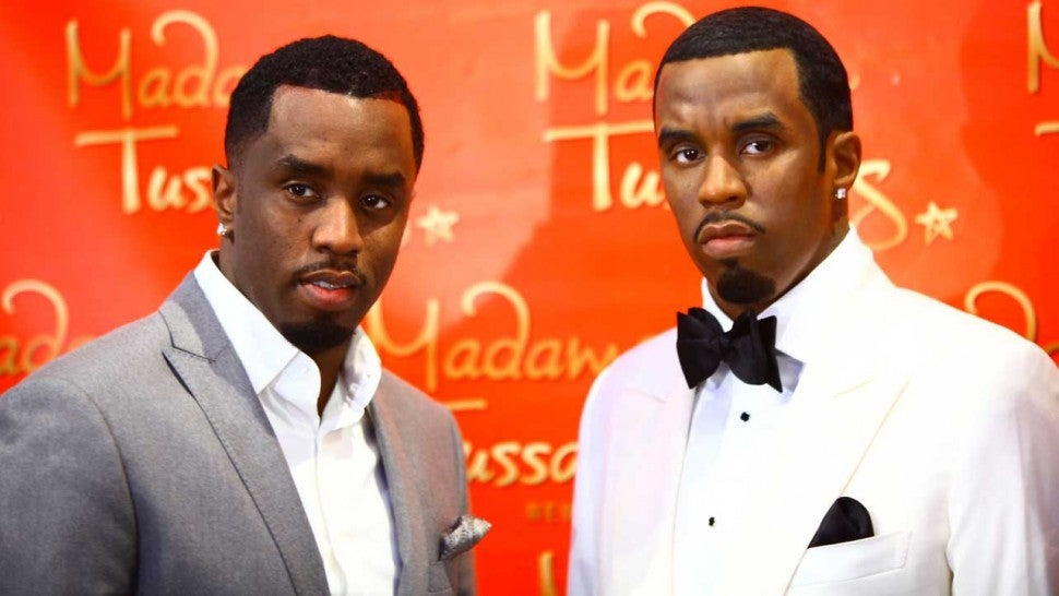 Diddy at the unveiling of his wax figure at Madame Tussauds in New York in 2009