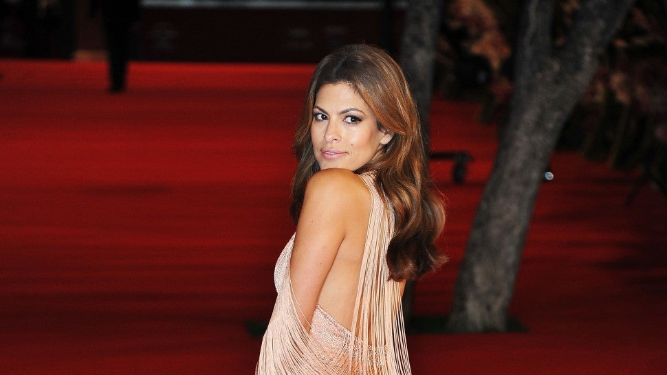 0b9ebc70f8 Eva Mendes Says She and Ryan Gosling Are Struggling to Teach Their Kids  Spanish -- Here s Why