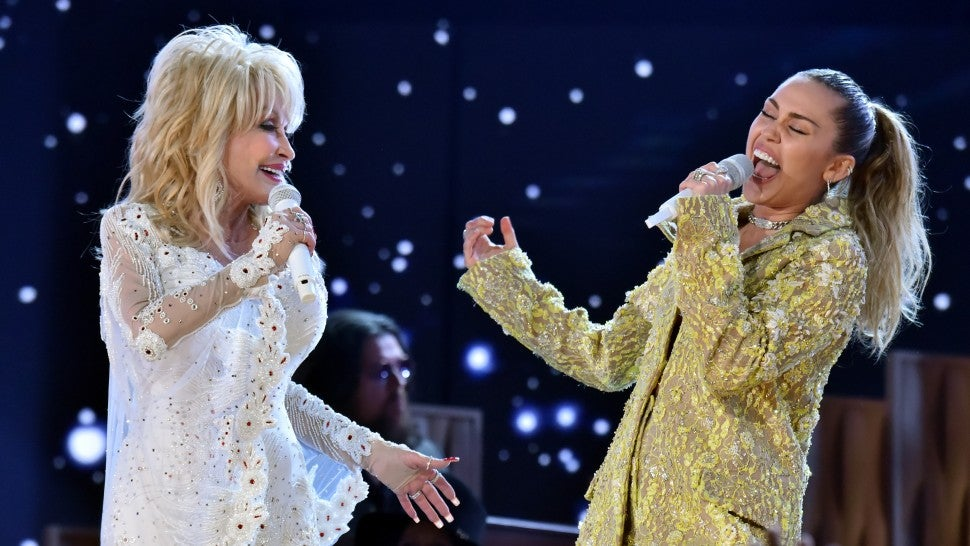 Dolly Parton and Miley Cyrus perform at 2019 grammys