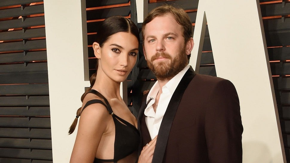 Lily Aldridge and Caleb Followill at VF party