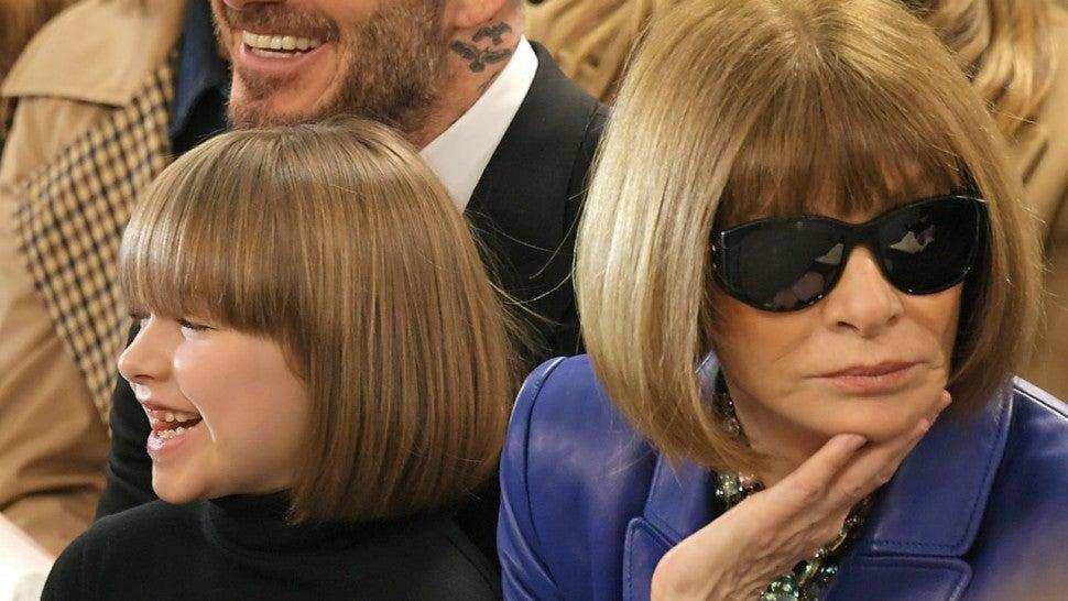 135a980d95ff Victoria Beckham's Daughter Harper Is Twinning With Anna Wintour ...