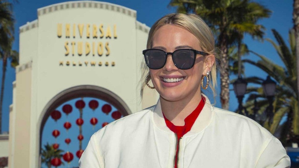 Hilary Duff at Universal Studios Hollywood on  Feb. 12.