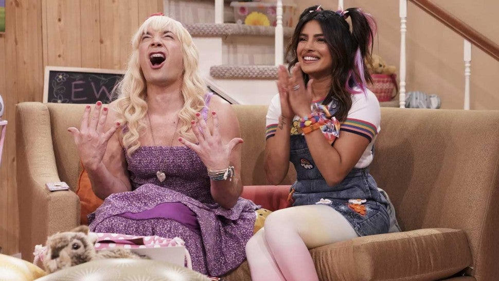 Jimmy Fallon and Priyanka Chopra in 'Ew' Sketch on 'Tonight Show'