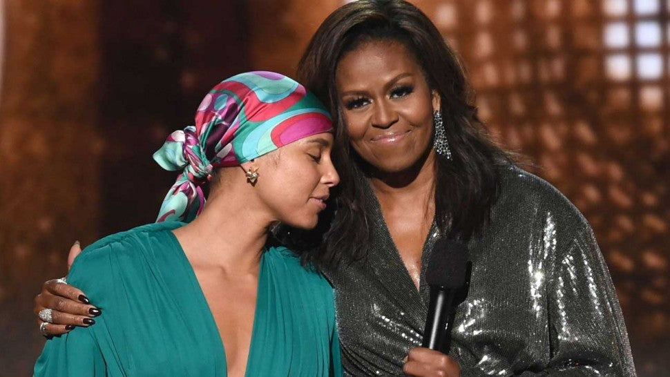 Michelle Obama delights Grammy crowd with girl power message