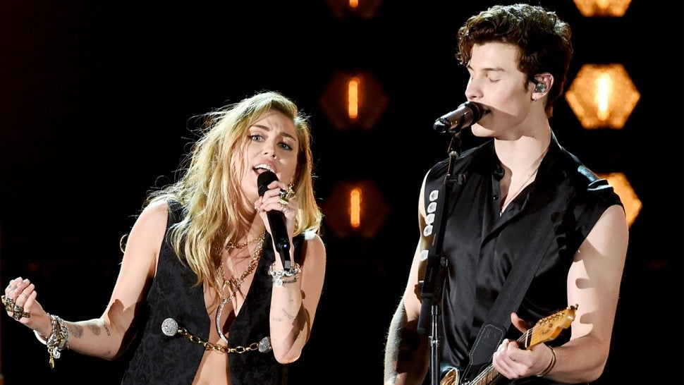 Image result for miley and shawn mendes teasing collab