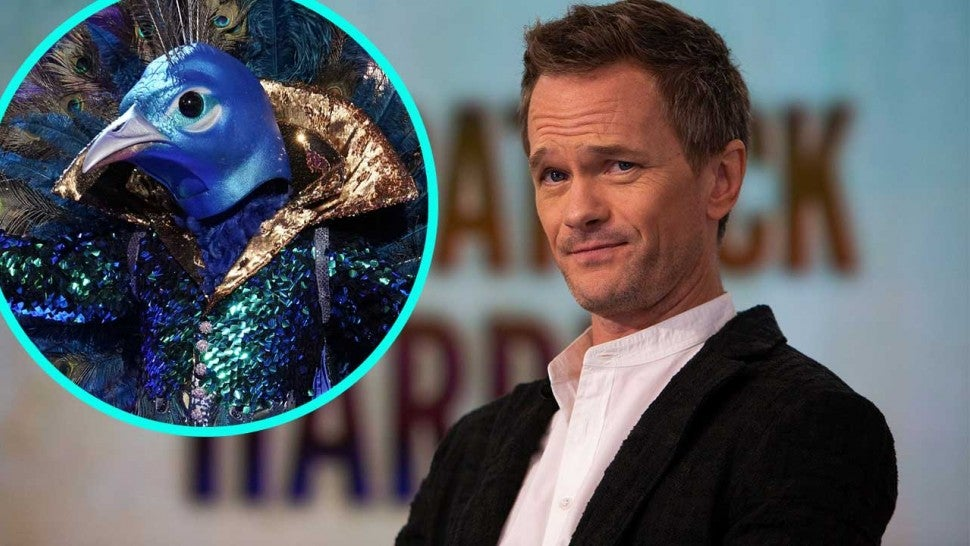 Neil Patrick Harris and The Peacock on 'The Masked Singer' (inset)