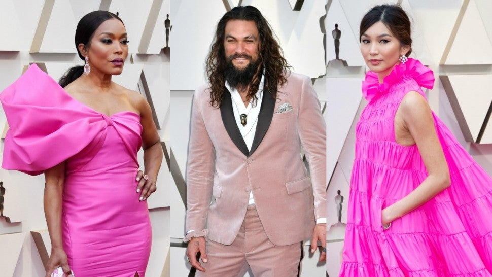 Jason Momoa's 2019 Oscars suit was custom-made by Karl Lagerfeld