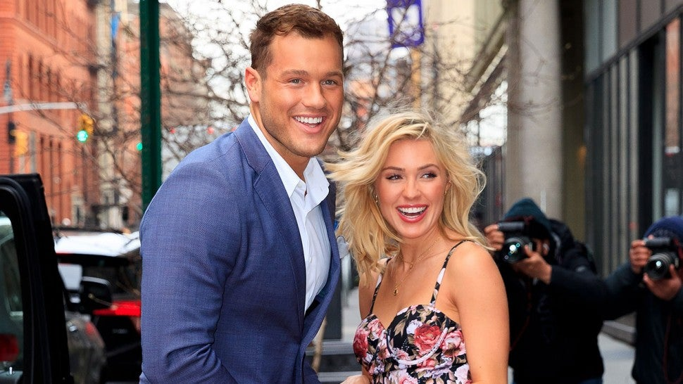 Colton Underwood and Cassie Randolph at AOL Build