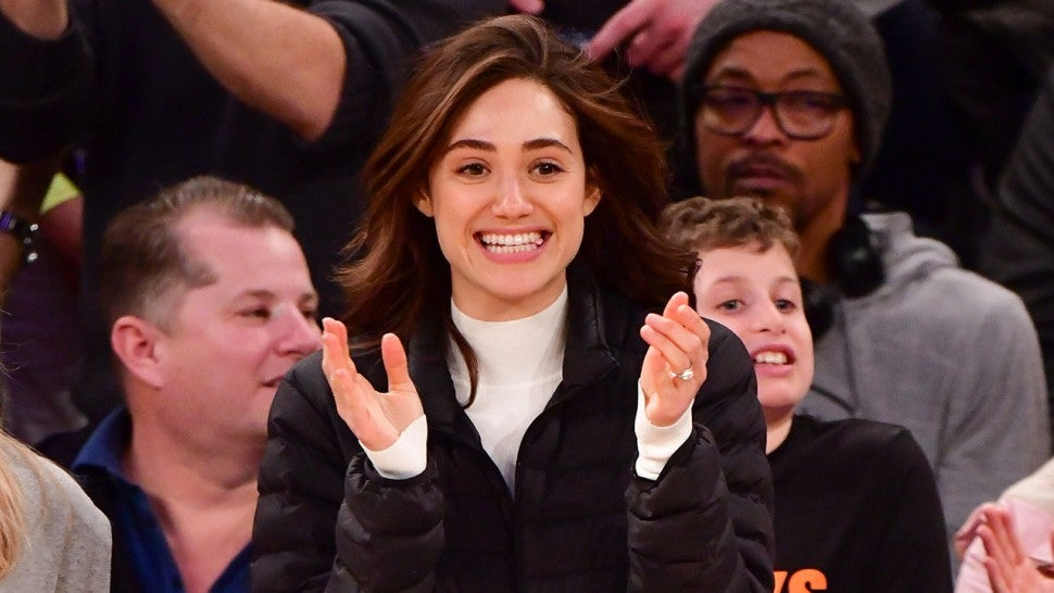 Emmy Rossum at knicks game