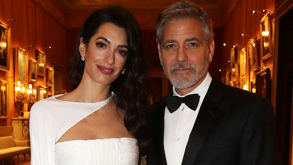 George and Amal Clooney dine with Prince Charles at Buckingham Palace