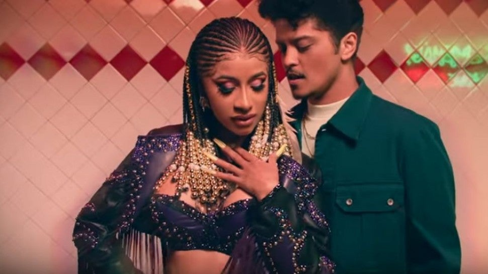 Cardi B and Bruno Mars music video
