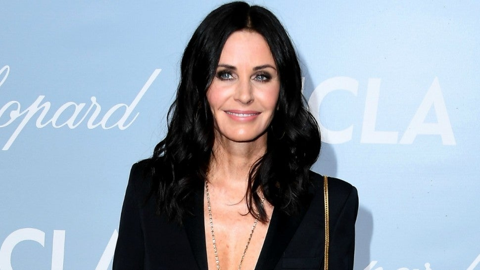 Courteney Cox Shows Off Fit Physique in Fun Poolside Video