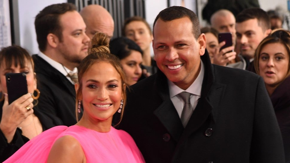 Jennifer Lopez and Alex Rodriguez at world premiere of 'Second Act'
