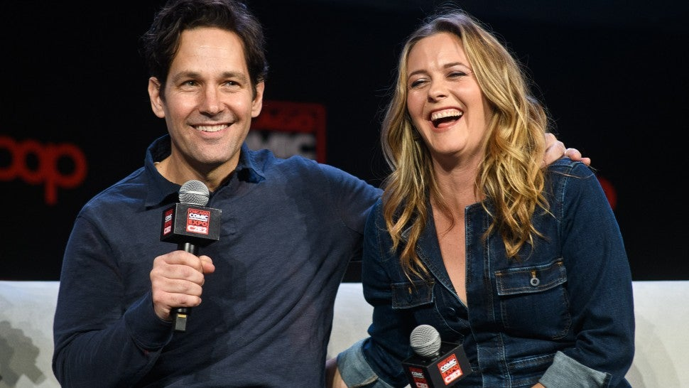 Paul Rudd and Alicia Silverstone at chicago comic expo
