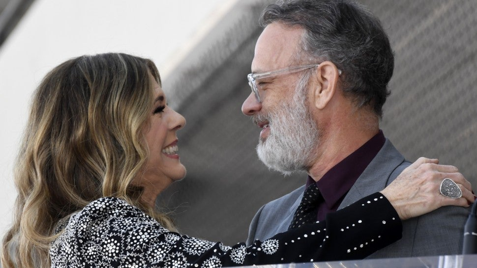 Tom Hanks Sweetly Supports Wife Rita Wilson at Hollywood ...