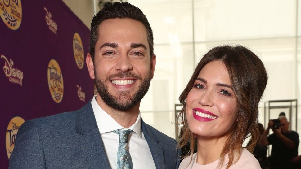 Zachary Levi and Mandy Moore