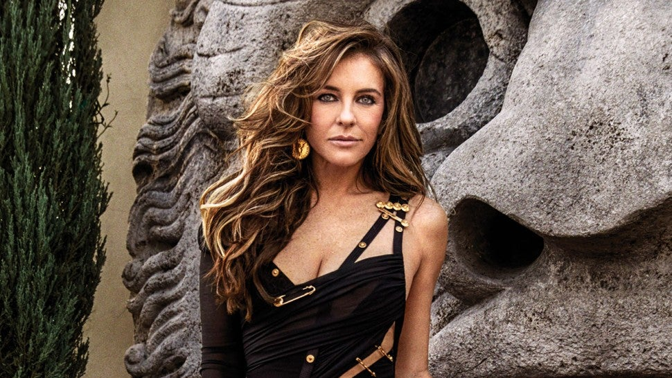 Liz Hurley recreates that iconic safety pin dress from 1994