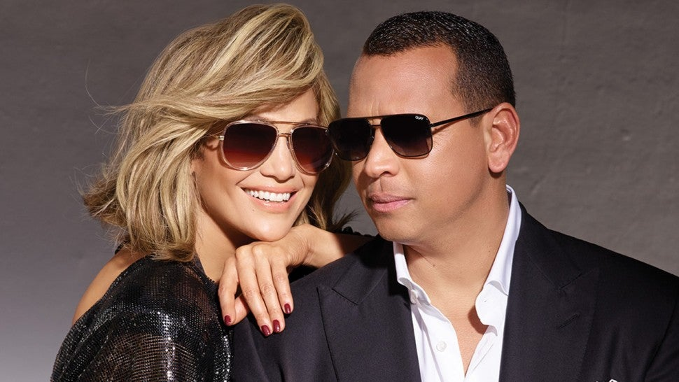 Jennifer Lopez and Alex Rodriguez Cozy Up In Glamorous Campaign For New Sunglasses Collection -- Pics!