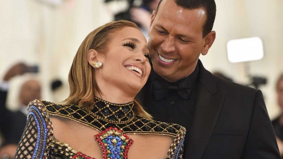Jennifer Lopez and Alex Rodriguez at the 2018 Met Gala