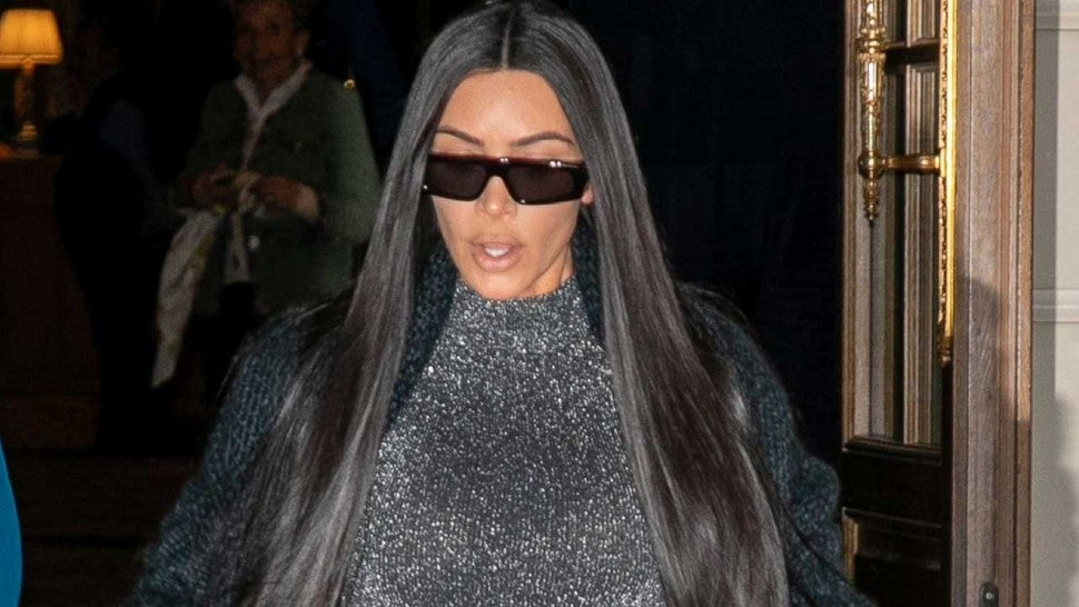 Kim Kardashian Steps Out in a Sparkly See-Through Bodysuit in Paris -- See the Look!