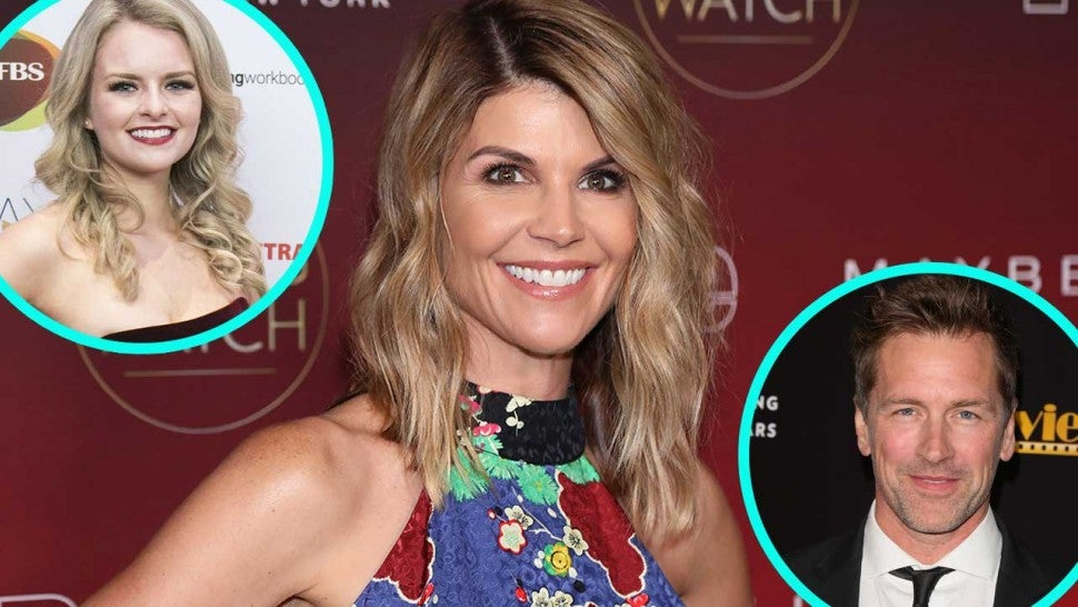 Lori Loughlin and 'When Calls the Heart' co-stars Andrea Brooks and Paul Greene (inset)