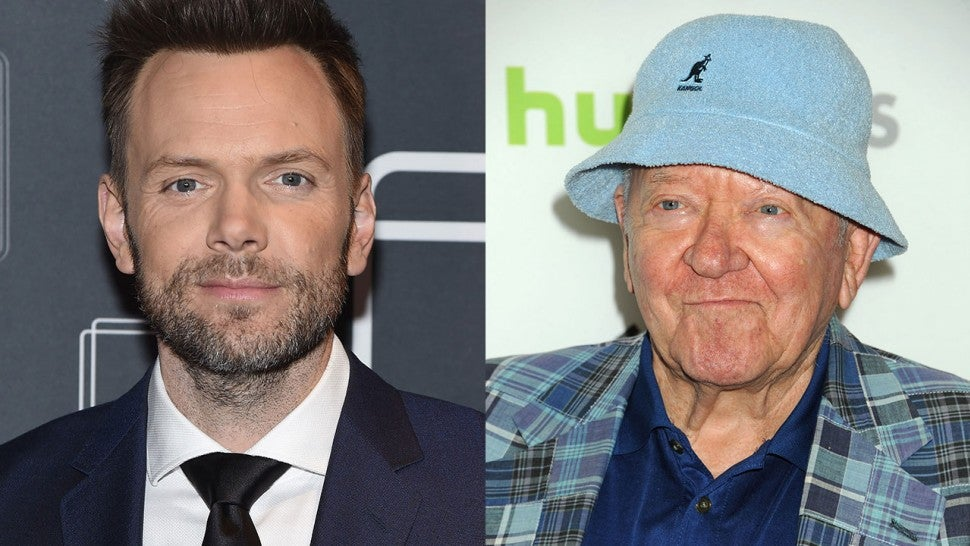 Joel McHale and Richard Erdman