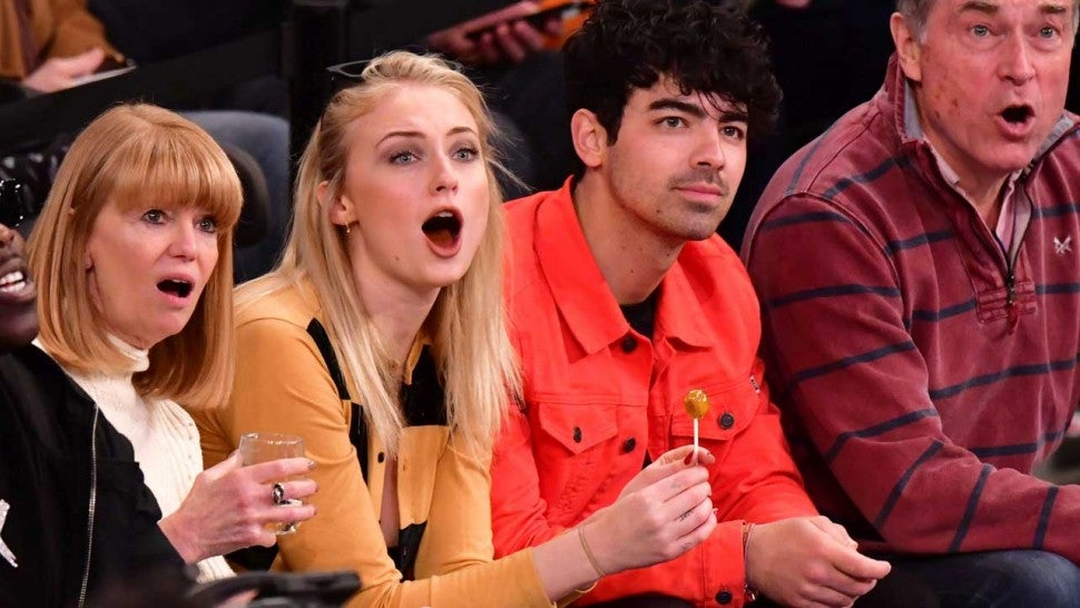 Sophie Turner Chugs Wine and Proves Her Awesomeness at New York Rangers Game with Joe Jonas