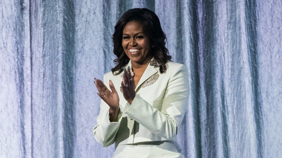 Michelle Obama Continues Her Stylish Suit Streak in Elegant Pale Mint Suit