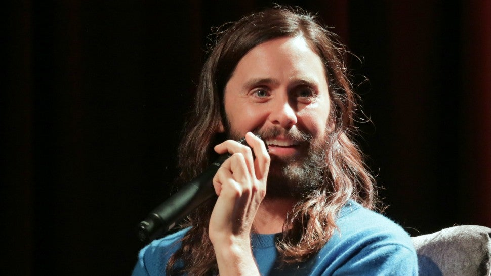 Jared Leto Flaunts His Washboard Abs While Giving a Shout Out to Ariana Grande