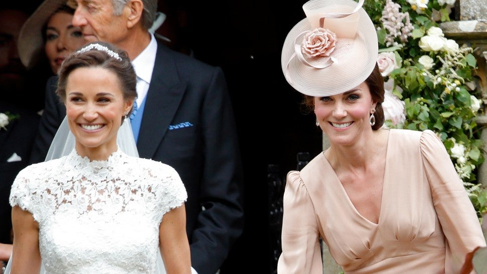 Pippa Middleton and Kate Middleton at pippa's wedding