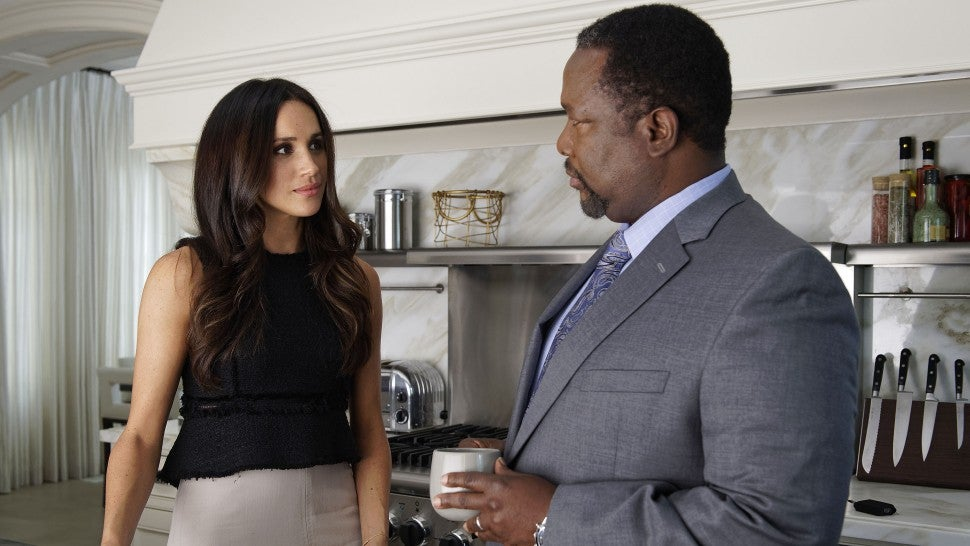 Meghan Markle Wendell Pierce Suits