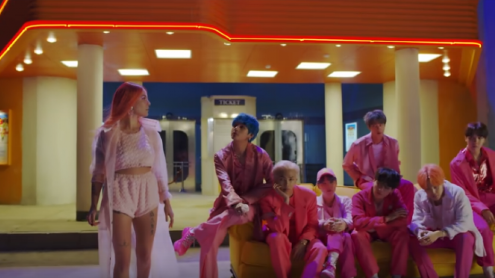 BTS Teases New Collab With Halsey, 'Boy With Luv'