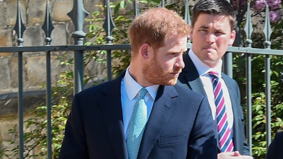 Prince Harry Shows Up to Easter Service With Family Ahead of Royal Baby's Birth