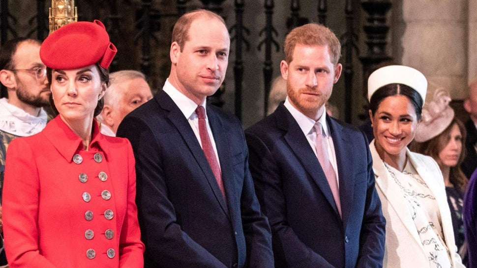 Kate Middleton, Prince William, Prince Harry and Meghan Markle attend the Commonwealth Day service at Westminster Abbey in London on March 11, 2019