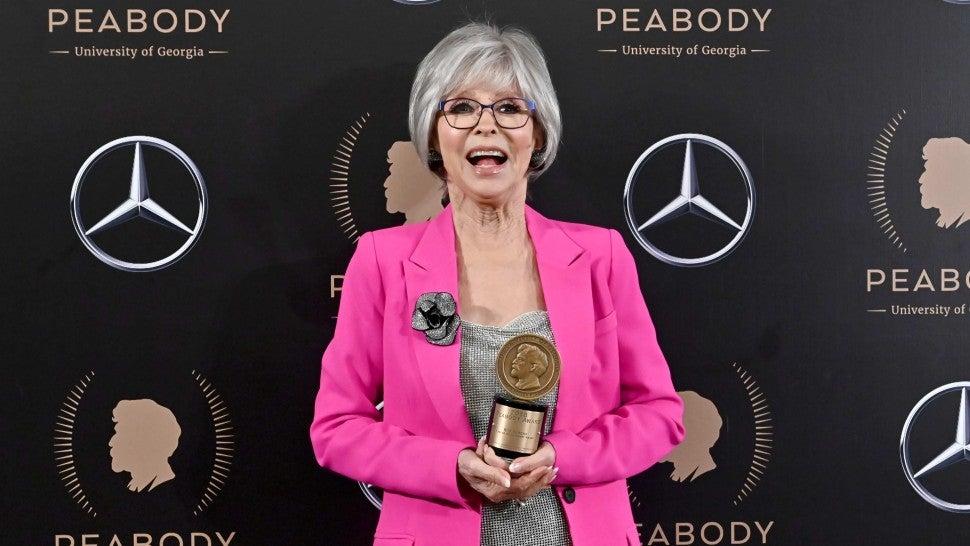 Rita Moreno Becomes First Latina to Achieve 'PEGOT' Status With Peabody Award